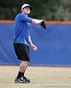 Florida freshman outfielder Kamm Washington throw the ball to the infield during the Gators' first day of practice on Friday, January 29, 2010 at McKethan Stadium in Gainesville, Fla. / Gator Country photo by Tim Casey