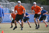 Florida sophomore Nick Maronde warms up during the Gators' first day of practice on Friday, January 29, 2010 at McKethan Stadium in Gainesville, Fla. / Gator Country photo by Tim Casey