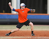 Florida junior infielder Bryson Smith thows to second base during the Gators' first day of practice on Friday, January 29, 2010 at McKethan Stadium in Gainesville, Fla. / Gator Country photo by Tim Casey