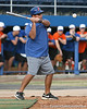 Florida baseball assistant coach Craig Bell hits ground balls during the Gators' first day of practice on Friday, January 29, 2010 at McKethan Stadium in Gainesville, Fla. / Gator Country photo by Tim Casey