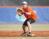 Florida junior Josh Adams fields a throw at second base during the Gators' first day of practice on Friday, January 29, 2010 at McKethan Stadium in Gainesville, Fla. / Gator Country photo by Tim Casey