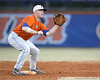 Florida sophomore infielder Jerico Weitzel fields a throw at second base during the Gators' first day of practice on Friday, January 29, 2010 at McKethan Stadium in Gainesville, Fla. / Gator Country photo by Tim Casey