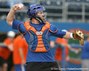 Florida sophomore catcher Ben McMahan throws to second base during the Gators' first day of practice on Friday, January 29, 2010 at McKethan Stadium in Gainesville, Fla. / Gator Country photo by Tim Casey