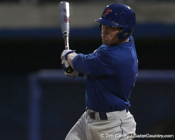 Florida freshman infielder Nolan Fontana bats during the Gators' first day of practice on Friday, January 29, 2010 at McKethan Stadium in Gainesville, Fla. / Gator Country photo by Tim Casey