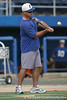 Florida baseball head coach Kevin O'Sullivan hits fungoes during the Gators' first day of practice on Friday, January 29, 2010 at McKethan Stadium in Gainesville, Fla. / Gator Country photo by Tim Casey