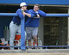 Florida senior pitcher Jeff Barfield talks to baseball athletic trainer John Barrett during the Gators' first day of practice on Friday, January 29, 2010 at McKethan Stadium in Gainesville, Fla. / Gator Country photo by Tim Casey