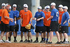 Florida baseball assistant coach Brad Weitzel talks to defensive players during the Gators' first day of practice on Friday, January 29, 2010 at McKethan Stadium in Gainesville, Fla. / Gator Country photo by Tim Casey