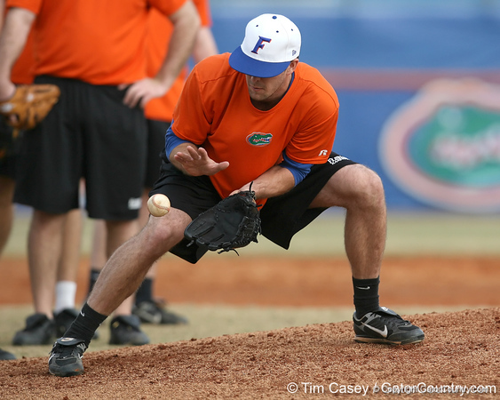 during the Gators' first day of practice on Friday, January 29, 2010 at McKethan Stadium in Gainesville, Fla. / Gator Country photo by Tim Casey