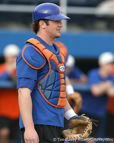 Florida sophomore catcher Ben McMahan works out during the Gators' first day of practice on Friday, January 29, 2010 at McKethan Stadium in Gainesville, Fla. / Gator Country photo by Tim Casey