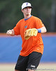 Florida junior Josh Adams throws to first base during the Gators' first day of practice on Friday, January 29, 2010 at McKethan Stadium in Gainesville, Fla. / Gator Country photo by Tim Casey