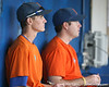 Florida student managers keep score during the Gators' first day of practice on Friday, January 29, 2010 at McKethan Stadium in Gainesville, Fla. / Gator Country photo by Tim Casey