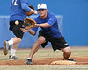 Florida freshman infielder Cody Dent fields a throw at third base during the Gators' first day of practice on Friday, January 29, 2010 at McKethan Stadium in Gainesville, Fla. / Gator Country photo by Tim Casey