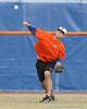 Florida senior outfielder Jonathan Pigott throws to the catcher during the Gators' first day of practice on Friday, January 29, 2010 at McKethan Stadium in Gainesville, Fla. / Gator Country photo by Tim Casey