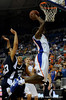 (Casey Brooke Lawson / Gator Country) UF guard Ray Shipman scores over a Longwood player during the second half of the Gators games against Lancers in Gainesville, Fla., on January 6, 2009. The Gators won 95 to 69.