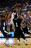 (Casey Brooke Lawson / Gator Country) UF forward Ray Shipman scores over a Longwood player during the second half of the Gators games against Lancers in Gainesville, Fla., on January 6, 2009. The Gators won 95 to 69.