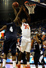 (Casey Brooke Lawson / Gator Country) UF forward Allan Chaney scores over a Longwood player during the second half of the Gators games against Lancers in Gainesville, Fla., on January 6, 2009. The Gators won 95 to 69.