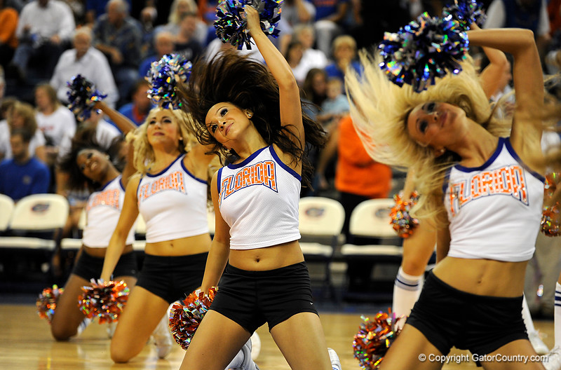 (Casey Brooke Lawson / Gator Country) UF Dazzlers perform during the half time of the Gators games against Lancers in Gainesville, Fla., on January 6, 2009.