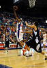 (Casey Brooke Lawson / Gator Country) UF forward Alex Tuys moves the ball past a Longwood player during the first half of the Gators games against Lancers in Gainesville, Fla., on January 6, 2009.