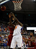 (Casey Brooke Lawson / Gator Country) UF forward Allen Chaney scores over a North Carolina State player during the first half of the Gators game against the Wolfpack in Gainesville, Fla., on January 3, 2009. The Gators won 68 to 66.