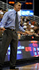 (Casey Brooke Lawson / Gator Country) UF Head Coach Billy Donovan directs his team during the second half of the Gators game against the Wolfpack in Gainesville, Fla., on January 3, 2009. The Gators won 68 to 66.