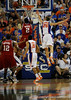 (Casey Brooke Lawson / Gator Country) UF forward Chandler Parsons attempts to block a North Carolina State player during the first half of the Gators game against the Wolfpack in Gainesville, Fla., on January 3, 2009. The Gators won 68 to 66.