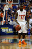 (Casey Brooke Lawson / Gator Country) UF forward Irving Walker prepares to dribble to ball downcourt during the second half of the Gators game against the Wolfpack in Gainesville, Fla., on January 3, 2009. The Gators won 68 to 66.