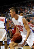 (Casey Brooke Lawson / Gator Country) UF forward Chandler Parsons moves the ball past a North Carolina State player during the second half of the Gators game against the Wolfpack in Gainesville, Fla., on January 3, 2009. The Gators won 68 to 66.