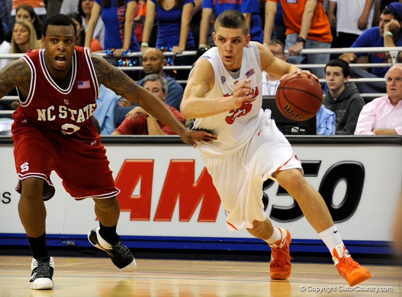 (Casey Brooke Lawson / Gator Country) during the second half of the Gators game against the Wolfpack in Gainesville, Fla., on January 3, 2009. The Gators won 68 to 66.