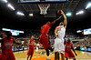 (Casey Brooke Lawson / Gator Country) UF forward Dan Werner attempts to score over an Ole Miss player during the Gators 78 to 68 victory over the Rebels in Gainesville, Fla., on January 10, 2009.