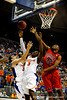 (Casey Brooke Lawson / Gator Country) UF guard Ray Shipman attempts to grab a rebound over Ole Miss guard Zach Graham during the Gators 78 to 68 victory over the Rebels in Gainesville, Fla., on January 10, 2009.