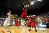 (Casey Brooke Lawson / Gator Country) Ole Miss forward DeAundre Cranston grabs a rebound over UF guard Walter Hodge during the Gators 78 to 68 victory over the Rebels in Gainesville, Fla., on January 10, 2009.