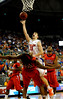 (Casey Brooke Lawson / Gator Country) UF forward Nick Calathes attempts to score over Ole Miss forward DeAundre Cranston during the Gators 78 to 68 victory over the Rebels in Gainesville, Fla., on January 10, 2009.