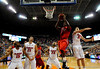 (Casey Brooke Lawson / Gator Country) UF forward Nick Calathes attempts to block an Ole Miss player during the Gators 78 to 68 victory over the Rebels in Gainesville, Fla., on January 10, 2009.
