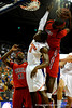 (Casey Brooke Lawson / Gator Country) Ole Miss forward Terrance Henry grabs a rebound over UF forward Ray Shipman during the Gators 78 to 68 victory over the Rebels in Gainesville, Fla., on January 10, 2009.