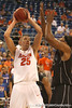 photo by Tim Casey<br /> <br /> Florida sophomore forward Chandler Parsons gets fouled while shooting during the first half of the Gators' exhibition game against the Warner Southern Royals on Monday, November 3, 2008 at the Stephen C. O'Connell Center in Gainesville, Fla.