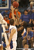 photo by Tim Casey<br /> <br /> Florida junior forward Dan Werner attempts to block a shot during the first half of the Gators' exhibition game against the Warner Southern Royals on Monday, November 3, 2008 at the Stephen C. O'Connell Center in Gainesville, Fla.