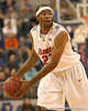 photo by Tim Casey<br /> <br /> Florida sophomore forward Alex Tyus looks to pass during the second half of the Gators' 108-49 win in an exhibition game against the Warner Southern Royals on Monday, November 3, 2008 at the Stephen C. O'Connell Center in Gainesville, Fla. Tyus scored 16 points in 24 minutes of play.