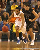 photo by Tim Casey<br /> <br /> Florida senior guard Walter Hodge dribbles upcourt during the first half of the Gators' exhibition game against the Warner Southern Royals on Monday, November 3, 2008 at the Stephen C. O'Connell Center in Gainesville, Fla.