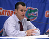photo by Tim Casey<br /> <br /> Florida head coach Billy Donovan speaks to the media after the Gators' 108-49 win in an exhibition game against the Warner Southern Royals on Monday, November 3, 2008 at the Stephen C. O'Connell Center in Gainesville, Fla.