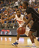 photo by Tim Casey<br /> <br /> Florida senior guard Walter Hodge guards a player during the second half of the Gators' 108-49 win in an exhibition game against the Warner Southern Royals on Monday, November 3, 2008 at the Stephen C. O'Connell Center in Gainesville, Fla.