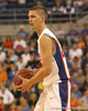 photo by Tim Casey<br /> <br /> Florida sophomore forward Chandler Parsons looks to pass during the first half of the Gators' exhibition game against the Warner Southern Royals on Monday, November 3, 2008 at the Stephen C. O'Connell Center in Gainesville, Fla.
