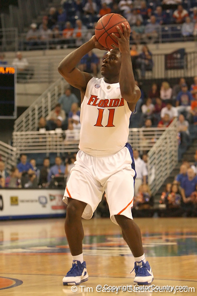 photo by Tim Casey<br /> <br /> Florida freshman guard Erving Walker makes a two-point basket during the first half of the Gators' exhibition game against the Warner Southern Royals on Monday, November 3, 2008 at the Stephen C. O'Connell Center in Gainesville, Fla.