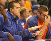 photo by Tim Casey<br /> <br /> Florida sophomore forward Adam Allen watches from the bench during the second half of the Gators' 108-49 win in an exhibition game against the Warner Southern Royals on Monday, November 3, 2008 at the Stephen C. O'Connell Center in Gainesville, Fla.