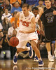 photo by Tim Casey<br /> <br /> Florida sophomore guard/forward Nick Calathes dribbles upcourt after stealing the ball during the first half of the Gators' exhibition game against the Warner Southern Royals on Monday, November 3, 2008 at the Stephen C. O'Connell Center in Gainesville, Fla.