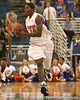photo by Tim Casey<br /> <br /> Florida freshman forward Allan Chaney looks to pass during the second half of the Gators' 108-49 win in an exhibition game against the Warner Southern Royals on Monday, November 3, 2008 at the Stephen C. O'Connell Center in Gainesville, Fla.