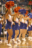 photo by Tim Casey<br /> <br /> Florida cheerleaders perform during the first half of the Gators' exhibition game against the Warner Southern Royals on Monday, November 3, 2008 at the Stephen C. O'Connell Center in Gainesville, Fla.