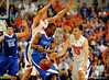 UF guards Chandler Parsons and Nick Calathes attempt to guard a Kentucky player during the University of Florida Gators 60-53 victory over the Kentucky Wildcats on Friday, March 6, 2009 in the Steven C. O'Connell Center. / Gator Country photo by Casey Brooke lawson