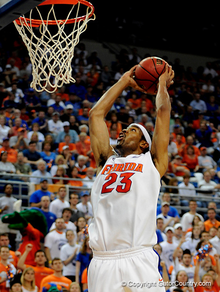 UF forward Alex Tyus scores during the University of Florida Gators 60-53 victory over the Kentucky Wildcats on Friday, March 6, 2009 in the Steven C. O'Connell Center. / Gator Country photo by Casey Brooke lawson