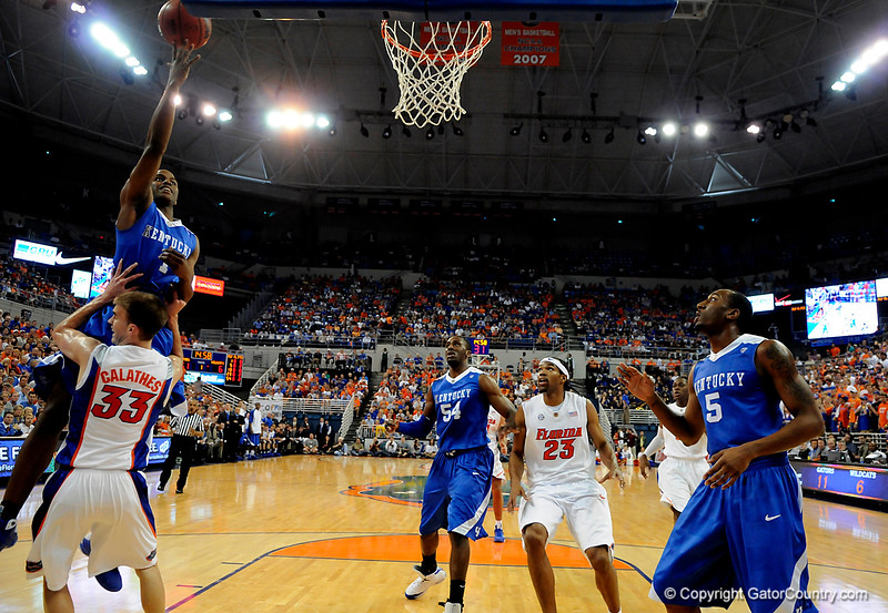 Kentucky's Darius Miller attempts to score during the University of Florida Gators 60-53 victory over the Kentucky Wildcats on Friday, March 6, 2009 in the Steven C. O'Connell Center. / Gator Country photo by Casey Brooke lawson