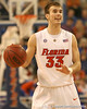 photo by Tim Casey<br /> <br /> Florida sophomore guard/forward Nick Calathes calls out a play during the Gators' 80-65 win against the Arkansas Razorbacks on on Saturday, January 17, 2009 at the Stephen C. O'Connell Center in Gainesville, Fla.